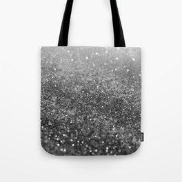 Silver Gray Black Glitter #2 (Faux Glitter - Photography) #shiny #decor #art #society6 Tote Bag