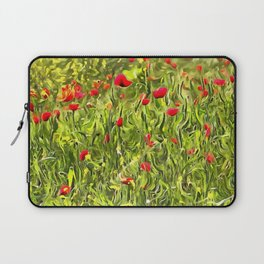 Surreal Hypnotic Poppies Laptop Sleeve