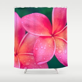 Aloha Hawaii Kalama O Nei Pink Tropical Plumeria Shower Curtain