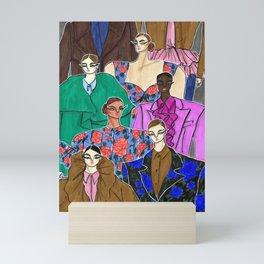 Delpozo Girls in Fall 2019 – Original Fashion art, Fashion Illustration, Fashion wall art Mini Art Print