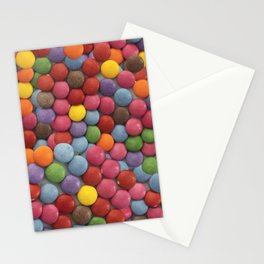 Candy-Coated Milk Chocolate Candy Pattern Stationery Cards
