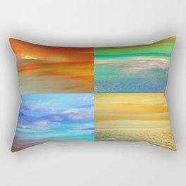 The Four Elements: Fire, Water, Air, Earth Rectangular Pillow