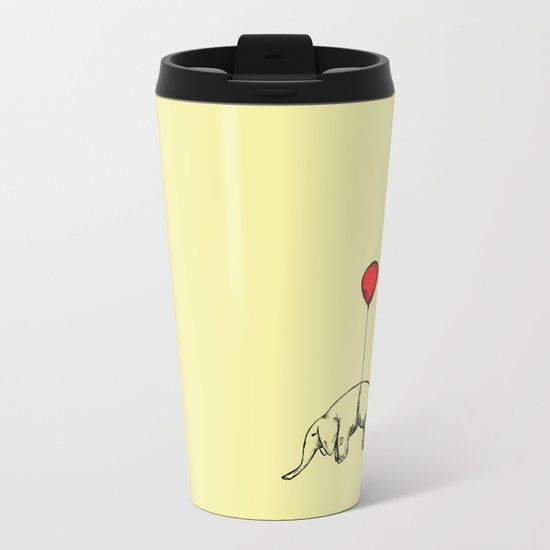 Red Elephant Metal Travel Mug