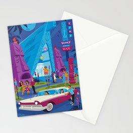 Tiki Kiki Boom Boom Bar by Art of Scooter Mid Century Modern Tiki art Stationery Cards