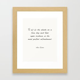 Fine Day Framed Art Print