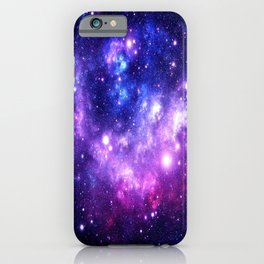 Purple Blue Galaxy Nebula iPhone Case