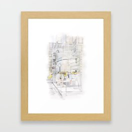 The reflection of a big city Framed Art Print