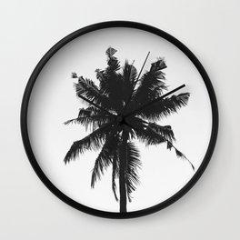 Palm, Tree, Nature, Tropical, Modern, Minimal, Interior, Wall art Wall Clock