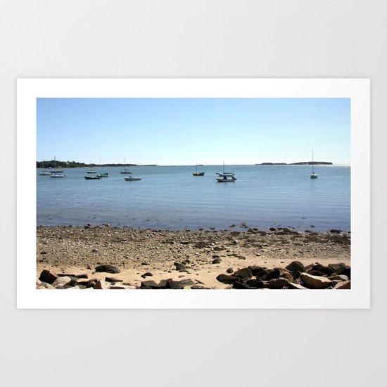 Sailboats In Chatham, Cape Cod Art Print