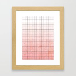Sweet Pink Geometry Framed Art Print