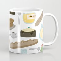 bread Mugs featuring Bread by Ceren Aksu Dikenci
