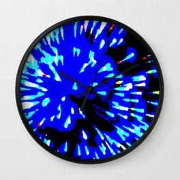 Blue Flash Wall Clock