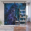 Black Trees Teal Purple Space by vintageby2sweet