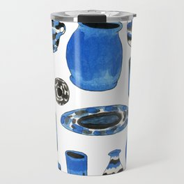 Cobalt Pottery Travel Mug
