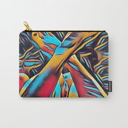 3766s-BH Abstract Leg Arch Vulva Art Feet Up Rendered Abstract by Chris Maher Carry-All Pouch