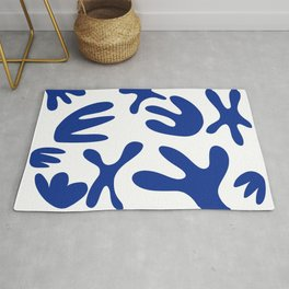 Blue and blue Rug