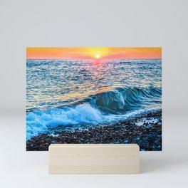 Sunset splash Mini Art Print