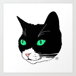 Green-eyed Pep Art Print