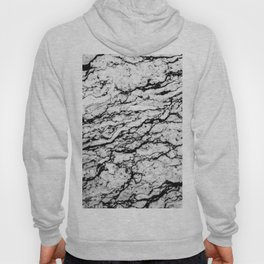 Black and White Marble Stone Pattern Hoody