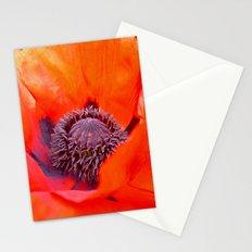 poppy macro IV Stationery Cards