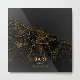 Bari, Italy - Gold Metal Print