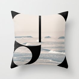 Nr. 9   Numbers with a View   Typography Letter Art Throw Pillow