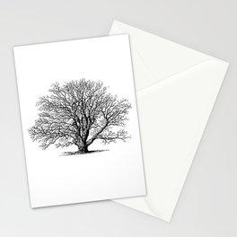 oak tree botanical no2 Stationery Cards