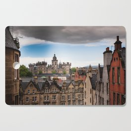 View of Edinburgh architecture from Victoria Street Cutting Board