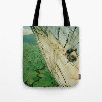 vertigo Tote Bags featuring vertigo by Jesse Treece
