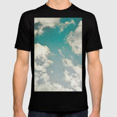 Clouds 026 Mens Fitted Tee Black MEDIUM