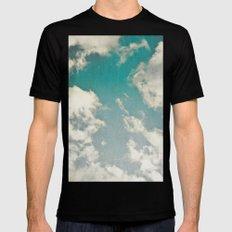 Clouds 026 MEDIUM Black Mens Fitted Tee