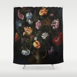 Jacob Vosmaer - A Vase with Flowers Shower Curtain