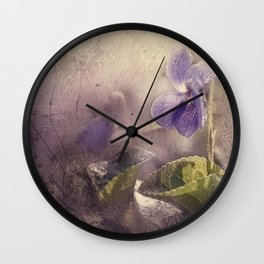 forest violets Wall Clock