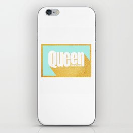 Queen of New York (Mint & Gold) iPhone Skin