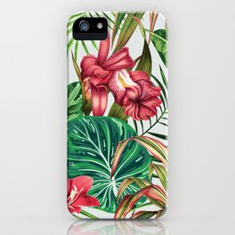Tropica #pattern #illustration #tropical iPhone Case