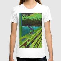 matisse T-shirts featuring Heron Matisse by Ellen Turner
