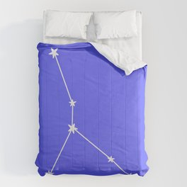Cancer (White & Azure Sign) Comforters