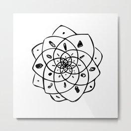 Energy Grid - White Lotus Metal Print