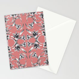 Lilium floral mirror Stationery Cards