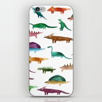 dinosaurs iPhone & iPod Skins featuring dinosaurs by victoriazorus