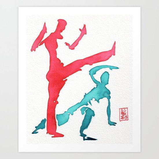 Capoeira 249 Art Print