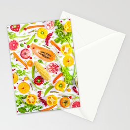 Fruits and vegetables pattern (31) Stationery Cards