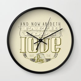 Faith Hope and Love | 1 Corinthians 13:13  Wall Clock