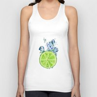 lemon Tank Tops featuring Lemon by jausrine