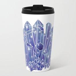 Blue/Purple Crystal Cluster Travel Mug