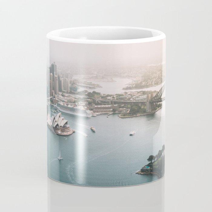 Sydney Opera House Harbour Bridge | Australia Aerial Travel Photography Coffee Mug