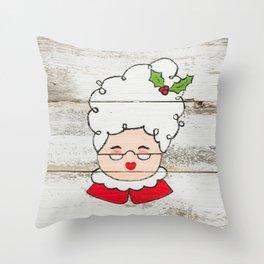 Mrs. Claus Throw Pillow