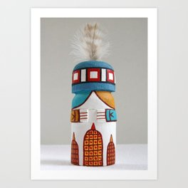 Hopi Rattle Kachina Doll Art Print