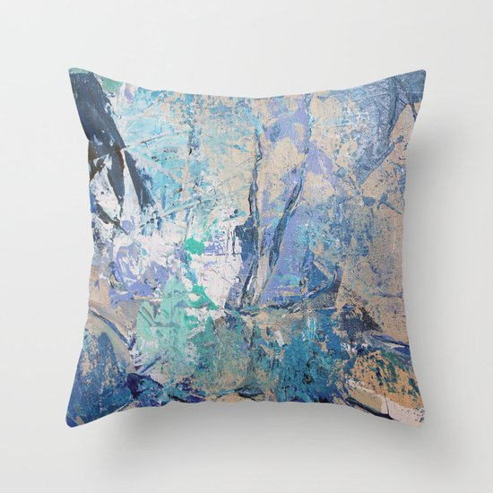 Clash of Tides (3 of 3) Throw Pillow