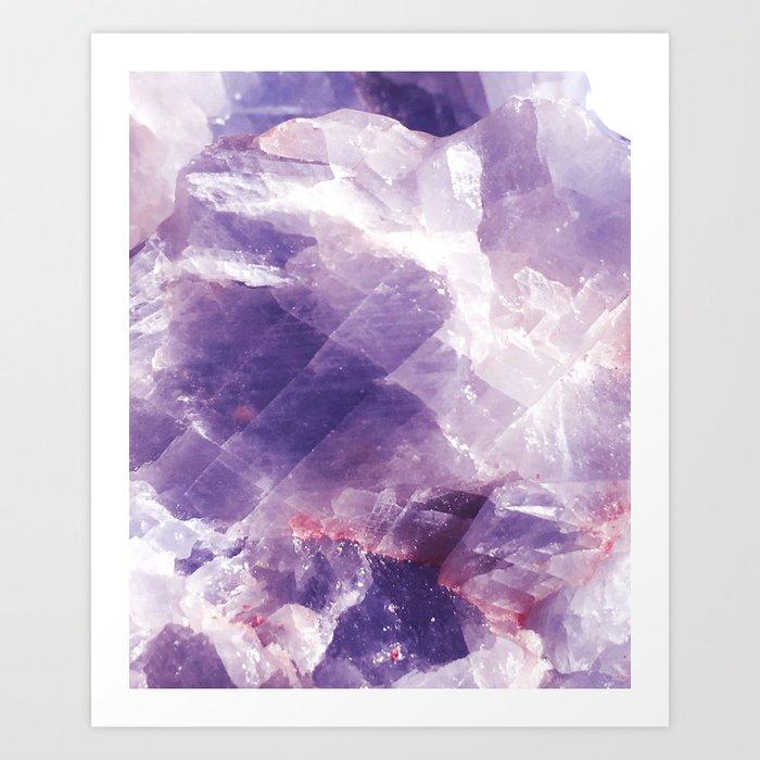Amethyst gemstone Kunstdrucke